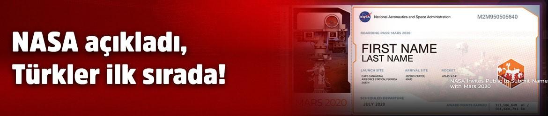 NASA açıkladı, Türkler ilk sırada!