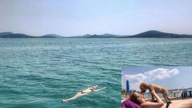 Pelin Öztekin'in bikinili fotoğrafları olay oldu