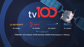 tv100 Turkcell TV+, Kablo TV ve Vodafone TV'de
