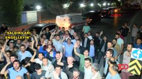 Uber sürücüleri taksicileri protesto etti