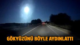Meteorun düşüş anı kamerada