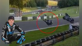 110 km hızdaki motosiklette kalbi durdu ve...