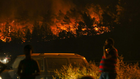 Yangın iki mahalleye yaklaştı
