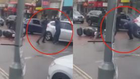 Otomobiliyle vurdu, yetmedi çekiçle saldırdı!
