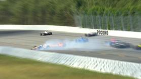 Indycar'da korkunç kaza