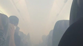 Uçak birden duman altı oldu