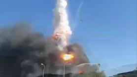 Tuzla'daki yangındaki patlama anı