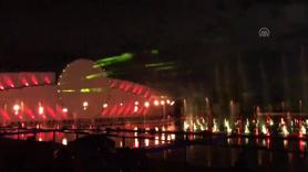 Moskova'da muhteşem ışık şovu