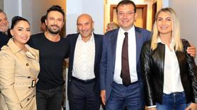 İmamoğlu, Soyer ve Tarkan'dan konser sonrası pozu