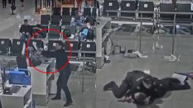 Uçağa alınmayınca havalimanını birbirine kattı