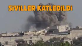 Rusya, İdlib'i havadan vurdu!