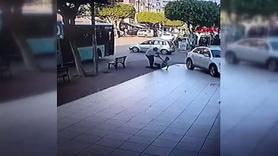 Otobüs şoförü, aracına asılan patenci çocuğu dövdü