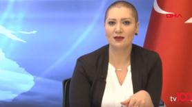 Kanseri yenen spiker yayına peruksuz çıktı