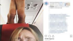 Uçakta iğrenç olay!