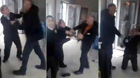 Kapıyı açmayan kadın görevlilere saldırdı!
