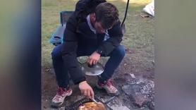 Kıvanç Tatlıtuğ kamp görüntülerini paylaştı