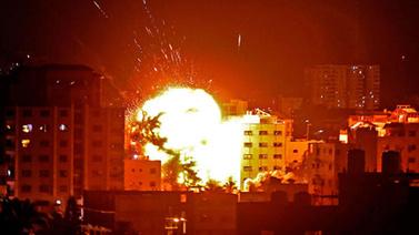 Gazze'nin bombalanma görüntüleri yayınlandı
