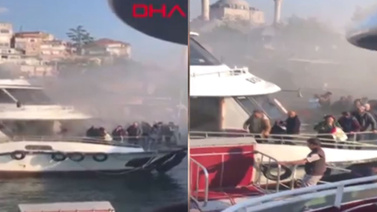 Yolcu teknesinde yangın