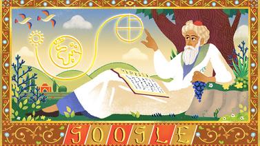 Ömer Hayyam'ın doğum gününe özel doodle