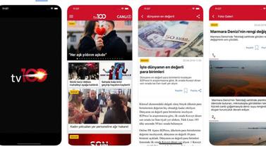 tv100 iOS uygulaması App Store'da