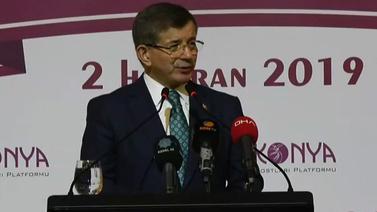 Ahmet Davutoğlu yeni partiyi resmen açıkladı