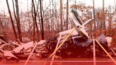 Meksika'da uçak düştü: 5 ölü
