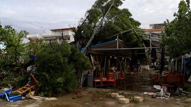 Halkidiki'yi yerle bir eden fırtına