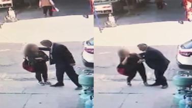 Genç kıza sokak ortasında taciz!