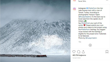 Instagram Van Gölü Ekspresi'ni paylaştı