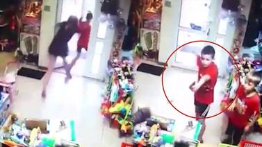 Çocukların oyuncak silahla soygun girişimi...