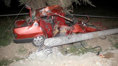 Muğla'da feci kaza!.. Araç bu hale geldi!
