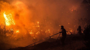 Yunanistan orman yangınlarını söndüremiyor