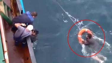 Kuzey Koreli balıkçı tayfundan böyle kurtuldu
