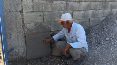 Tarihi mezar taşı tesadüfen fark edildi