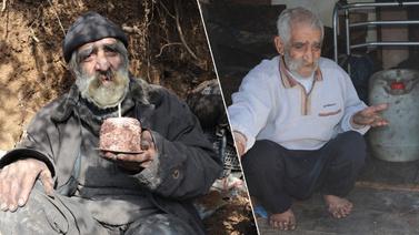40 yıldır yaşadığı mağaradan kulübeye taşındı