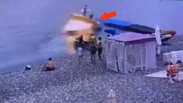 Tekne böyle patladı!