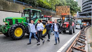 Hollanda'da çiftçiler ayaklandı