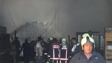 Ankara Sincan'da fabrika yangını