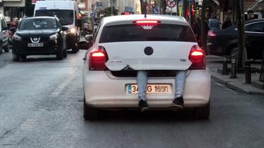 İstanbul trafiğinde şok görüntü!