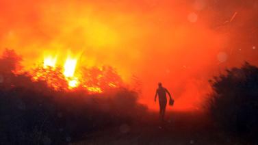 Mersin'de korkutan yangın!