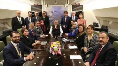 Cumhurbaşkanı Erdoğan, uçakta soruları yanıtladı