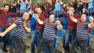 Gol sevinciyle sosyal medyayı salladı