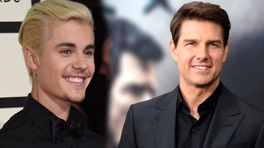 Justin Bieber'dan Tom Cruise'a kafes dövüşü çağrısı