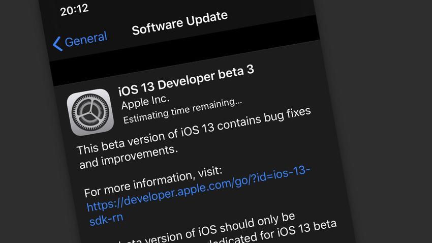 Apple iOS 13 son beta sürümü çıktı