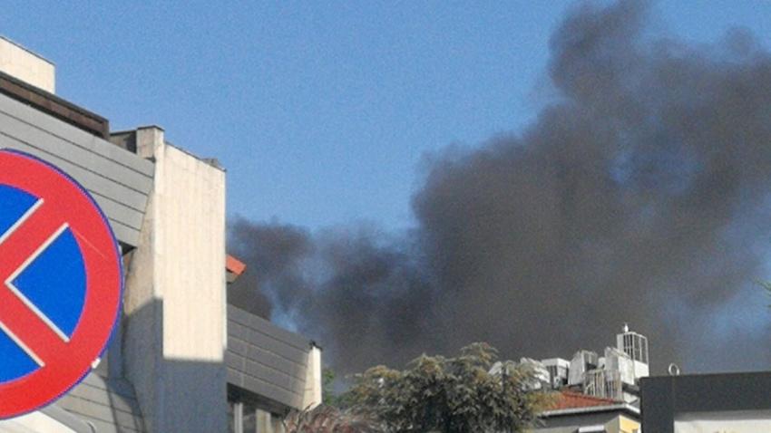 Mecidiyeköy'de korkutan yangın