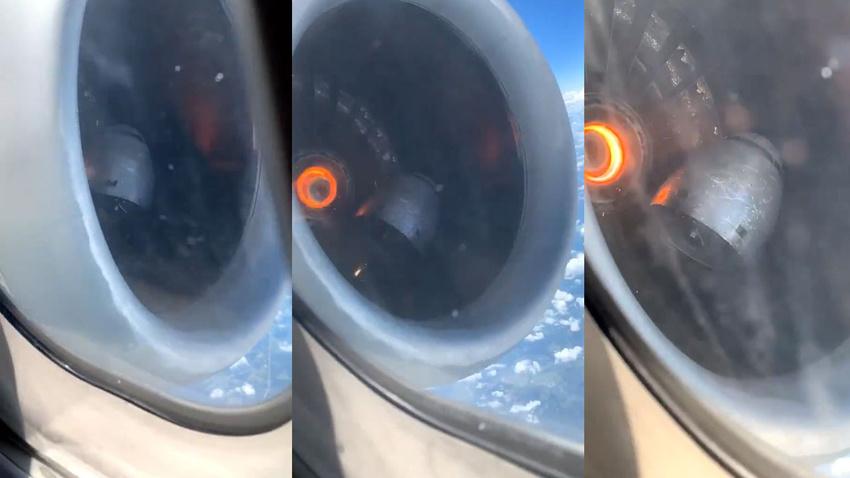 Gökyüzünde dehşet, uçağın motorunun parçası koptu