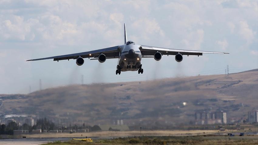 S-400'ler Türkiye'de! 7. uçak da indi