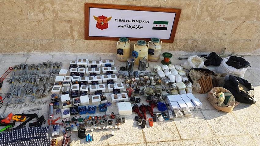 Jandarma ve MİT'ten DEAŞ'a ağır darbe!.. 1  ton patlayıcı ele geçirildi!