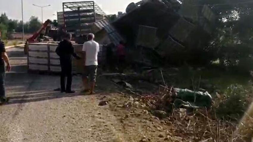 Adana'da faciadan dönüldü: 2 çocuk enkazın altında kaldı