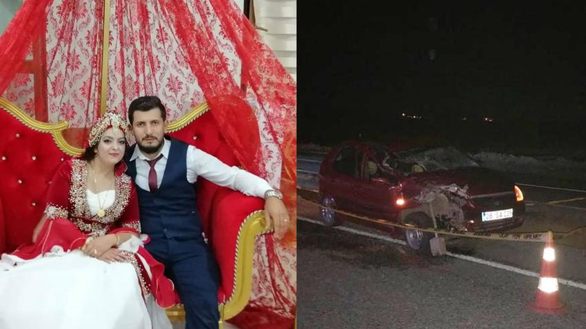 Balayı dönüşü kaza: Gelin hayatını kaybetti, damat yaralı